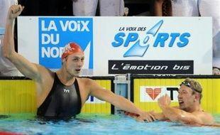 Amaury Leveaux a remporté la finale du 50 m nage libre messieurs en 21 sec 38/100 et battu le record d'Europe, devant Alain Bernard et Frédérick Bousquet lors des Championnats de France qualificatifs pour les JO-2008, samedi à Dunkerque.