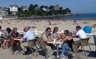 Le tourisme pèse un poids considérable dans l'économie bretonne. Ici à Dinard.