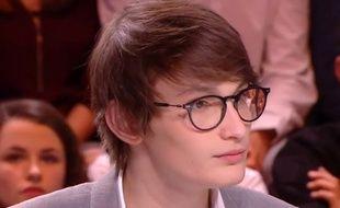 Aurélien Enthoven, sur le plateau de «Quotidien», le 13 mars 2018.