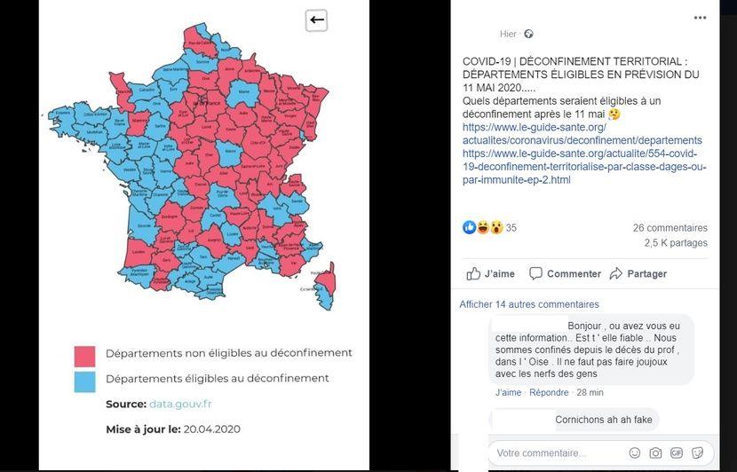 Coronavirus Attention Cette Carte De France Du Deconfinement N Est Pas Officielle