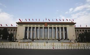 Le palais de l'assemblée du peuple, à Pékin, le 28 mai 2020.