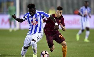Muntari, à gauche, lors d'un match contre l'AS Roma