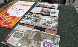 Montreuil, le 5 novembre 2014, depuis juin, Montreuil a sa monnaie locale nommée la pêche.