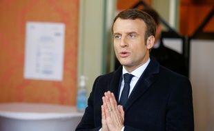 Emmanuel Macron le 15 mars 2020 au Touquet.