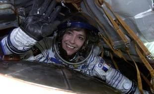 Claudie Haigneré lors d'un de ses voyages en orbite.