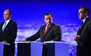 Jean-Frédéric Poisson le 13 octobre 2016 pendant le premier débat de la primaire de droite.
