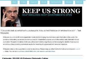 Capture d'écran du site Wikileaks, hébergé par Libération