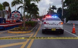 Un homme a percuté avec sa camionnette un défilé lors d'une gay pride en Floride, faisant un mort, le 19 juin 2021.