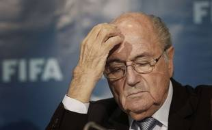 Sepp Blatter en conférence de presse le 19 décembre 2014.