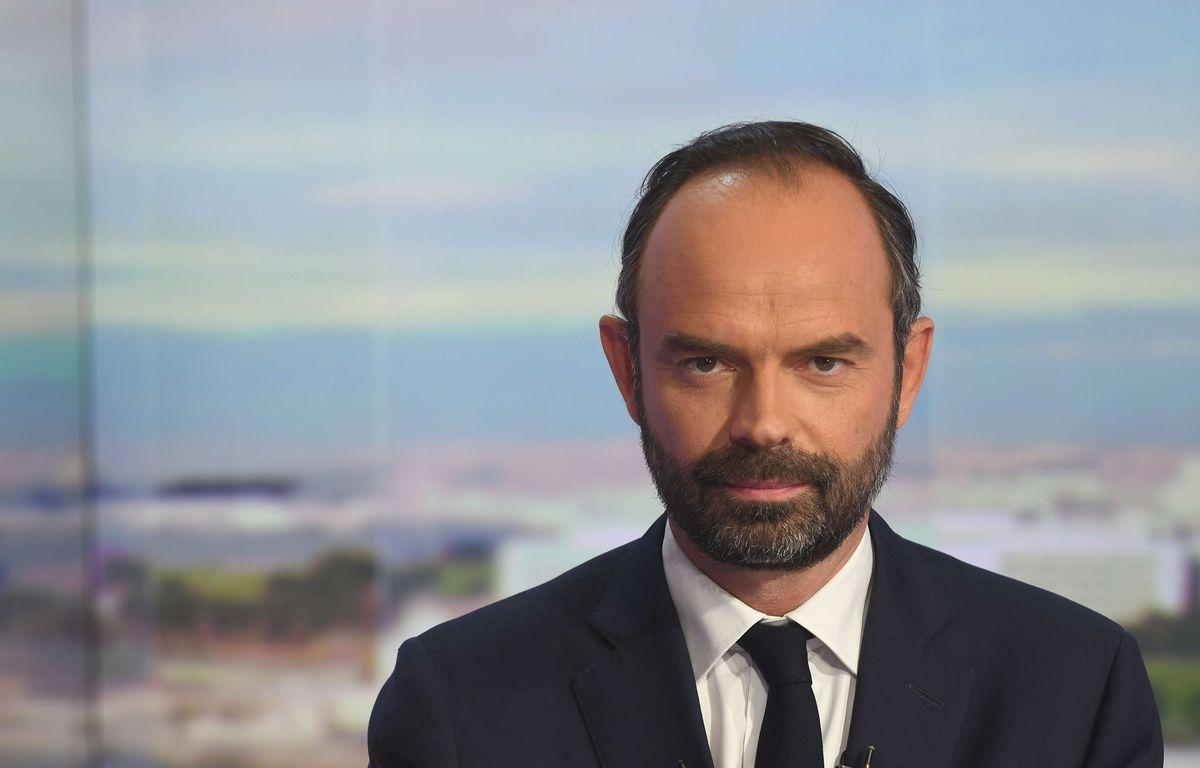 Le nouveau Premier Ministre Edouard Philippe au 20h de TF1. – SIPA