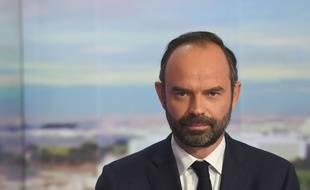Le nouveau Premier ministre Edouard Philippe au 20 h de TF1.