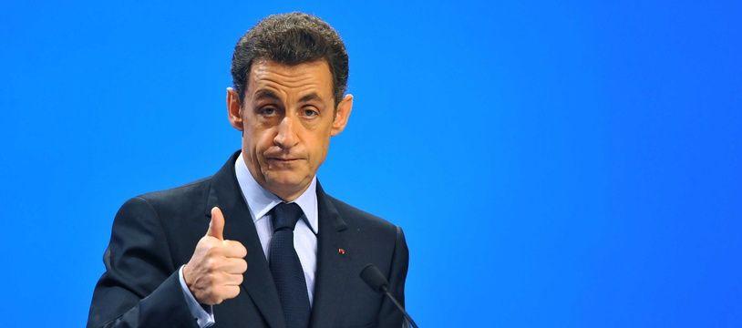 Nicolas Sarkozy présente Pôle Emploi en novembre 2009.