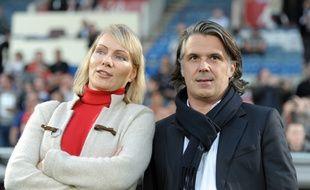 Vincent Labrune et Margarita Louis-Dreyfus à Bordeaux en avril 2015