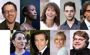 Le jury du Festival de Cannes 2015: Ethan Coen, Rokia Traoré, Sophie Marceau, Xavier Dolan, Joel Coen, Rossy de Palma, Jake Gyllenhaal, Sienna Miller et Guillermo del Toro.