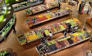 Illustration d'un supermarché