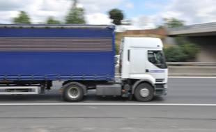 Un poids lourds sur le réseau routier européen (illustration).