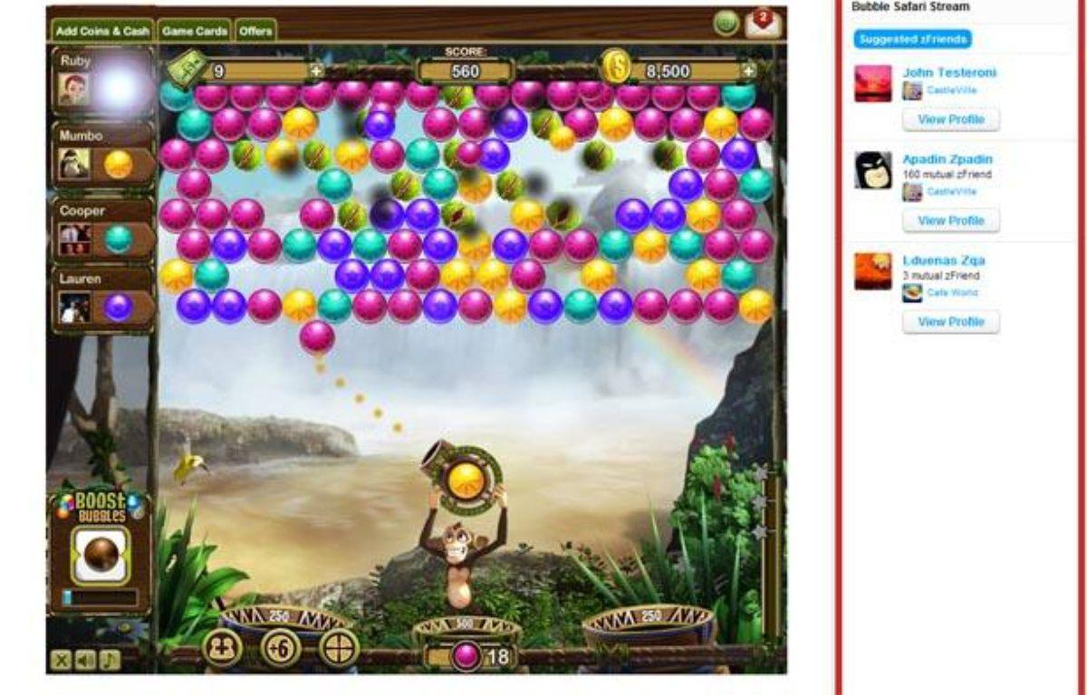 Bubble Safari, le nouveau jeu de Zynga. – ZYNGA
