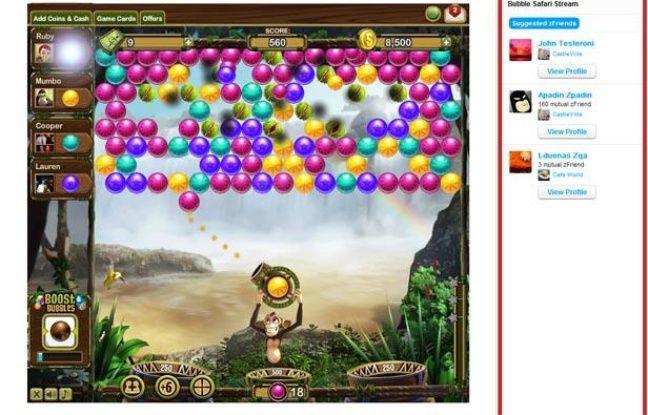 Bubble Safari, le nouveau jeu de Zynga.