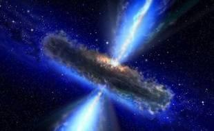 Vue d'artiste d'un quasar, réalisée le 13 mars 2012