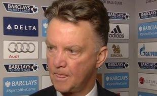 l'entraîneur de Manchester United Louis Van Gaal, le 18 avril 2015, à Londres.