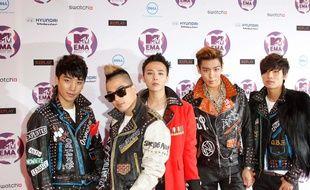 Le groupe de K-Pop Big Bang, de gauche à droite: Seungri, G-Dragon, Taeyang, T.O.P, et Daesung