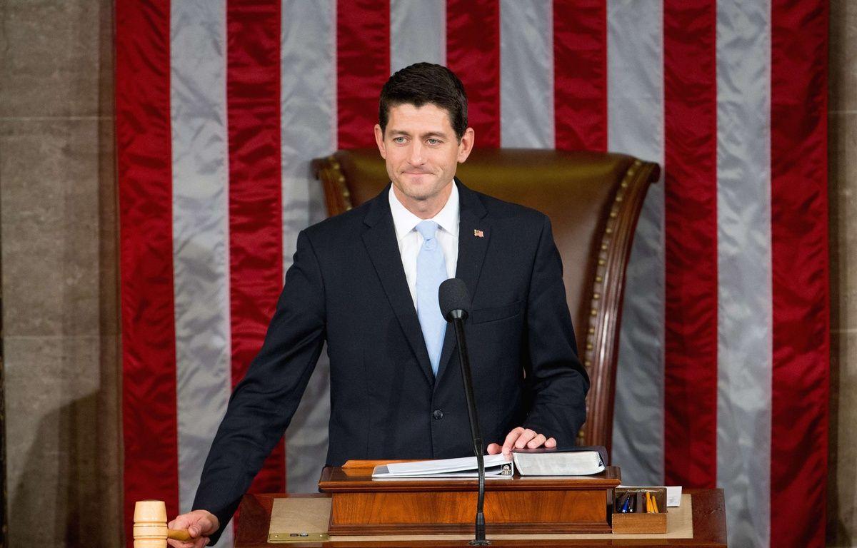 Le républicain Paul Ryan a été élu président de la Chambre des représentants, le 29 octobre 2015. – A.HARNIK/AP/SIPA
