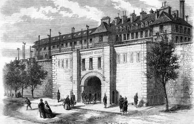 Engraving at the Mazas Prison in Paris in 1861.