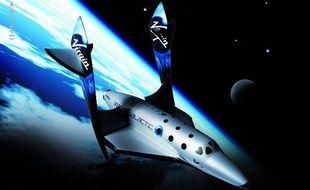 SpaceShipTwo (vue d'artiste) devrait commencer ses vols commerciaux à 110 km d'altitude à partir de 2011 ou 2012