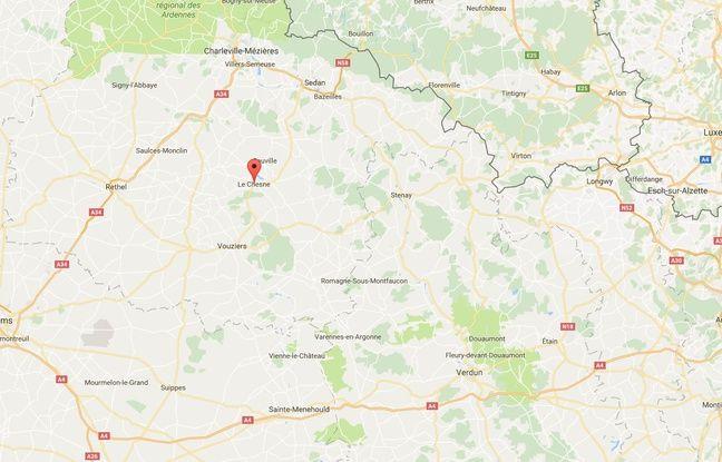 L'enlèvement a eu lieu dans la commune du Chesne.