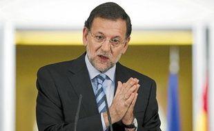 Le Premier ministre espagnol, Mariano Rajoy, lors d'une conférence de presse.