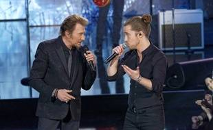 Johnny Hallyday et Julien Doré sur TF1