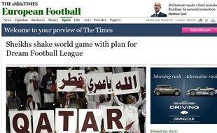 Capture d'écran du Times