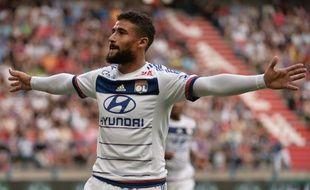Nabil Fekir a inscrit un triplé lors de la victoire de Lyon à Caen (0-4), le 29 août 2015.