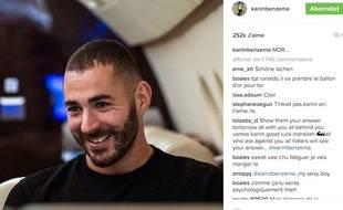 Karim Benzema a répondu à son absence de la liste des 30 sur Instagram.