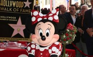 Minnie Mouse dévoile son étoile sur le Walk of Fame, à Hollywood, le 23 janvier 2018.