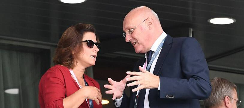 Roxana Maracineanu et Bernard Laporte.