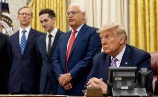 Donald Trump à la Maison-Blanche lors d'une discussion sur l'Iran le 12 août 2020.