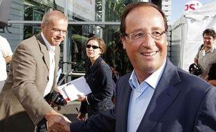 François Hollande le 29 août 2010 à l'université d'été de La Rochelle.