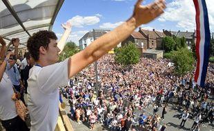 Benjamin Pavard a été fêté par plus d'un millier de personnes mercredi dans sa ville de Jeumont