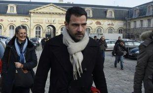 Jérôme Kerviel à la sortie du palais de justice le 20 janvier 2016 à Versailles