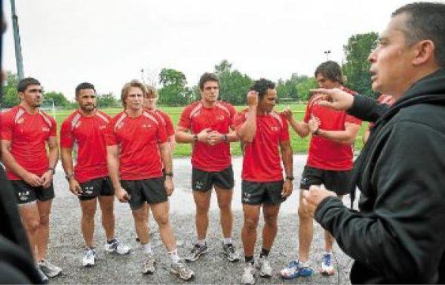Les joueurs de l'Union Bordeaux-Bègles ont repris l'entraînement par des tests physiques.