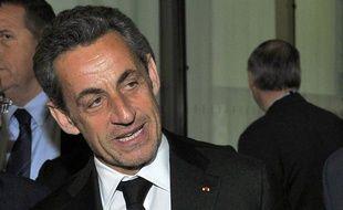 Nicolas Sarkozy, le 10 mars 2014 à l'Institut Claude Pompidou à Nice.