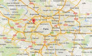 Google Maps de la ville de Puteaux (Hauts-de-Seine).