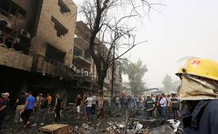 Le quartier de Karrada après l'attentat le 3 juillet 2016.