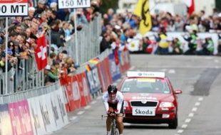 Le Suisse Fabian Cancellara a conservé son titre du contre-la-montre dans les Championnats du monde de cyclisme sur route, jeudi après-midi, sur le circuit allemand de Stuttgart.