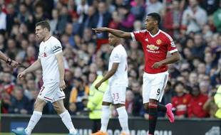 Anthony Martial face à Liverpool, le 12 septembre 2015