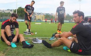 Les joueurs de l'OGC Nice lors de leur premier entraînement de la saison 2016-2017.