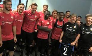 Les joueurs de Stuttgart ont envoyé un petit mot de soutien à Benjamin Pavard
