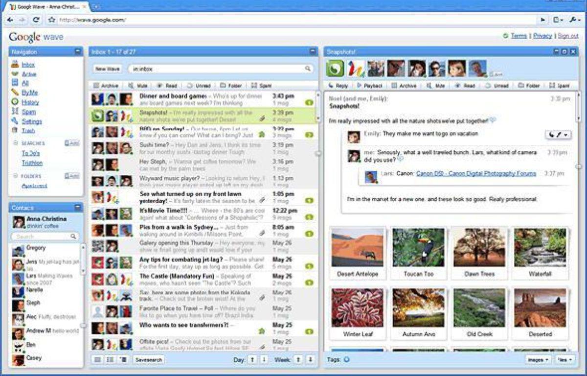 Google Wave veut être l'interface de communication du 21e siècle – Google