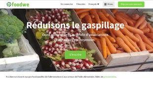 Capture d'écran de la home du site Foodwe
